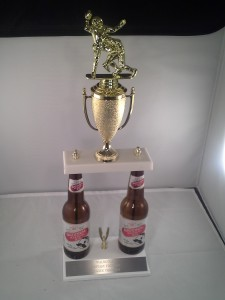 Natty Boh fantasy football trophy